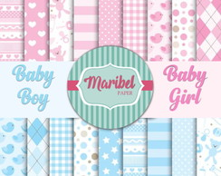 Papel Digital - Baby Boy & Girl