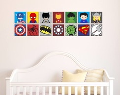 Kit Decorativo - Quadro Super Heroi Baby