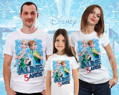 kit 3 Camisas Tema Frozen
