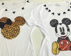 02 baby look mickey customizada