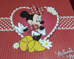 Caixa MDF Decorada c/Scrap Minnie Floral