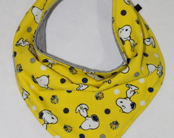 Babador Bandana Snoopy Yellow Dupla Face