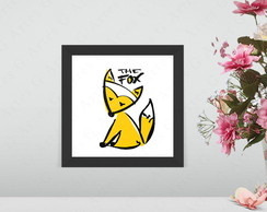 Quadro the fox - raposa cód: 1105b