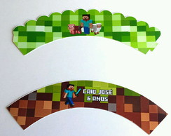 Wrapper Saia Cupcake Minecraft