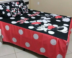 Colcha Cama Queen Mickey e Minnie 2