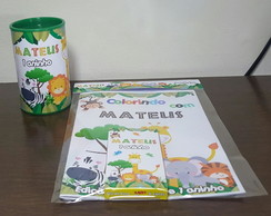Kit Pintura com cofrinho Safari