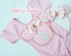 Collant + Tiara Minnie Luxo PRONTA ENTRE