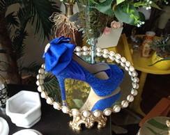 62a133bc36 ... Sapato de Noiva Azul Royal