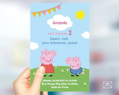 Convite Peppa Pig George - Arte Digital