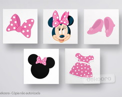 Quadros Decorativos Minnie Rosa
