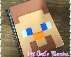 Caderno decorado Minecraft