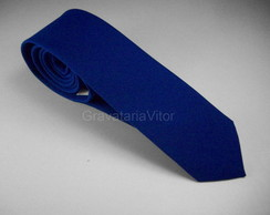 Gravata Azul Royal Slim