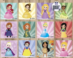 Placa Decorativa Princesas Disney