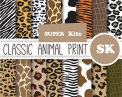 Kit Papel Digital Animal Print 7