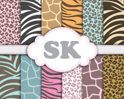 Kit Papel Digital Animal Print 10