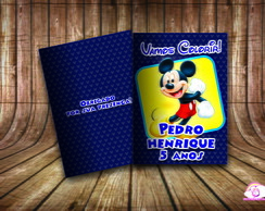 Revista Colorir Personalizado Mickey.