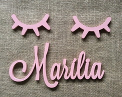 Letras Decorativas Nome De Parede + Sleepy Eyes