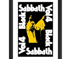 Quadro Black Sabbath Volume 4 Poster Banda Rock Decoracao