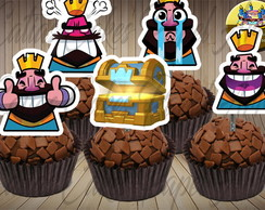 Clash Royale 50 Toppers para doces