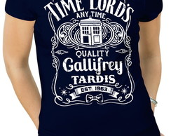 Camiseta Feminina doctor who time lords