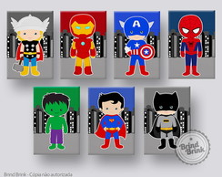Placas Decorativas Super Heróis (20x30cm)