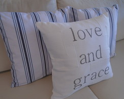 "Kit 03 Capas ""love and grace "" / Listras 45x45"