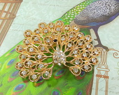 BROCHE STRASS PEACOCK