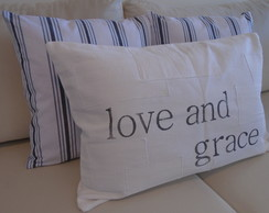 "Kit 03 Capas ""love and grace"" 60x40 / Listras 45x45"