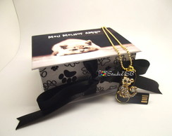 Caixa para pendrive - Kit Pet Photo
