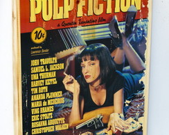 Quadros Poster Pulp Fiction Foto Madeira Vintage 40x27
