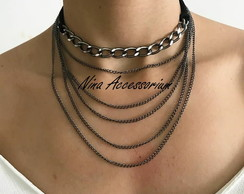 Choker com mix de correntes