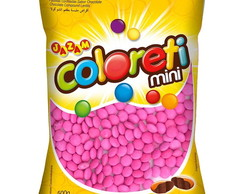 Mini Confetes De Chocolate Cor Rosa 1 Kg
