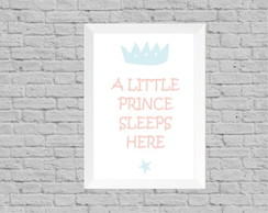 Quadro infantil little prince sleep