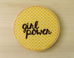 Quadro bordado - Girl Power