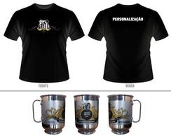 ... Kit Camiseta + Caneca personalizada Santos 57937fa9fd9f5