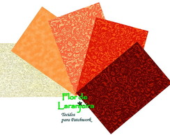 Kit Tecidos Tom Coral Patchwork 25x35cm