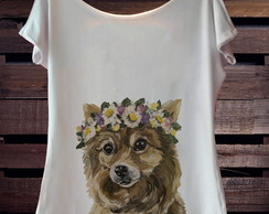 T-Shirt Dog FLower