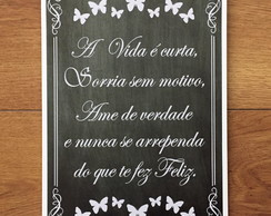 Placa Decorativa Feliz 20x30