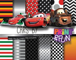 PAPEL DIGITAL - CARROS DISNEY