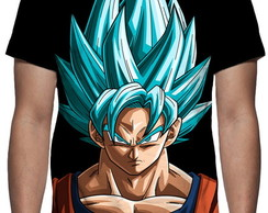 Camiseta Dragon Ball Super - Goku Face Estampa Total
