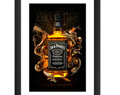 Quadro Jack Daniels Whisky Bebidas Poster Rock Bar Decoracao