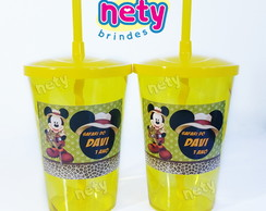Copo shake twister Mickey Safari 700ml amarelo