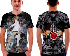 Camisa Camiseta Death Note Light Yagami e L