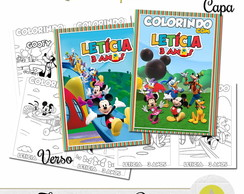 REVISTINHA PARA COLORIR CASA DO MICKEY 14x10