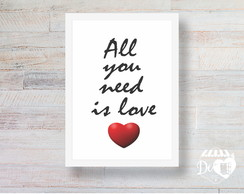 Quadro All you need is love 42x30
