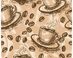 1e9da65e7 Papel de Parede Cozinha Xícara Café Grãos Cafeteria Espresso no Elo7 ...