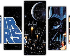 Quadro Decorativo Star Wars Mosaico 5 Pçs 13