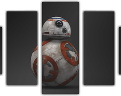 Quadro Decorativo Star Wars BB8 Mosaico 5 Pçs 15