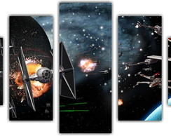 Quadro Decorativo Star Wars Mosaico 5 Pçs 19