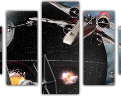 Quadro Decorativo Star Wars Mosaico 5 Pçs 21